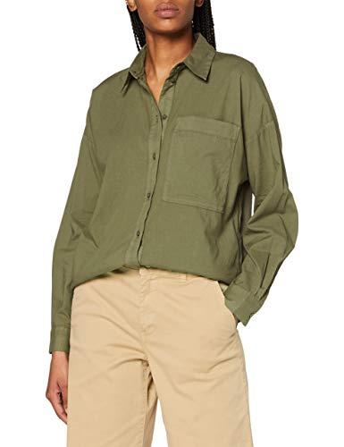 ESPRIT Damen 070EE1F314 Bluse, 360/OLIVE, 38