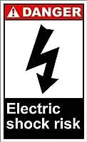 金属錫看板壁の装飾、感電の危険性、警告標識私有財産のための金属屋外危険標識錫肉看板アートヴィンテージプラークキッチンホームバー壁の装飾