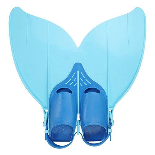Zjchao Mermaid Tail, Bambini Ragazze Nuotabile Monopinna Nuoto Monopinna coda di sirena Giocattolo Prop, Blu, Taglia unica