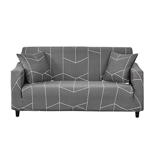 HOTNIU Elastischer Sesselbezug Stretch Sofa-Überwürfe Sofaüberzug Sesselhusse Sofabezug Sofa Abdeckung Hussen für Couch Sessel in Verschiedene Größe und Farbe (2 Sitzer, Muster ZGX)