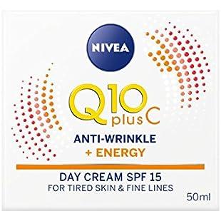 NIVEA Q10 plus Vitamin C Anti-Wrinkle Plus Energy Face Cream SPF 15, 50 ml, Pack of 3:Comoparardefumar