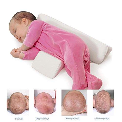 Almohada para Bebés del Lado De Los Bebés Recién Nacidos Leche Lavable Y Anti Escupir,Pink
