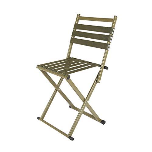 ch-AIR Chaise De Pêche Petit Tabouret Pliant Loisirs Chaise Pliante Mini Chaise Extérieure en Aluminium Portative pour Le Camping, Barbecue, Pêche, Randonnée, Plage, Jardin (Color : Green, Size : 45)