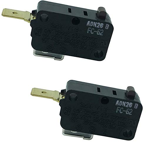 LONYE SZM-V16-FC-62 W10269458 Microwave Door Switch Replacement for Whirlpool Microwave AP4429884 PS2361111(Normally Closed)(Pack of 2)