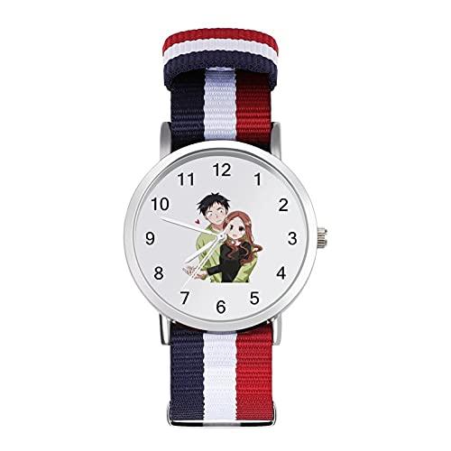 からかい上手の高木さん 腕時計 可愛い 安い ナイロンのニットベルト Rokoo ガールズ レディース 女子 学生 キッズ ウォッチ 誕生日 成人式 新学期 プレゼント キャラクター グッズ