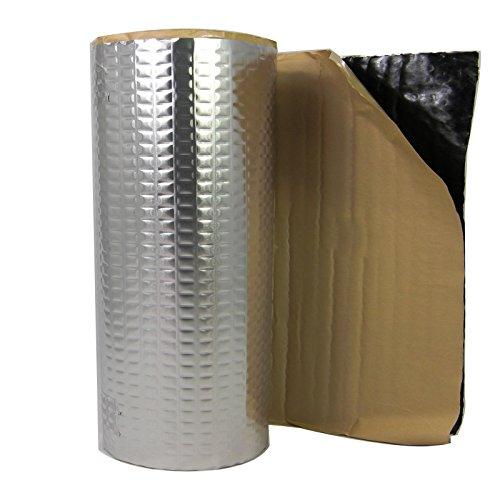2m² ALUBUTYL Tappetino isolante anti-rimbombo in sostituzione del bitume, 50 x 400 cm per il rivestimento dello stereo nella portiera dell'auto