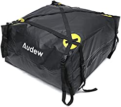Audew Roof Top Cargo Carrier, Outdoor Waterproof Rooftop Cargo Bag for All Vehicles, Travel Luggage Rack Bag for Summer Camping Road Trip (15 Cubic Feet)