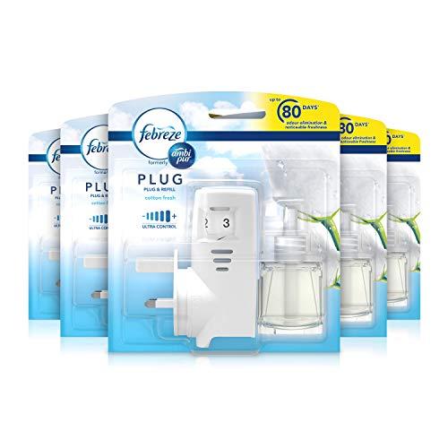 Febreze Ambi Pur Air Freshener Plug-In Diffuser Refill Starter Kit, Odour...