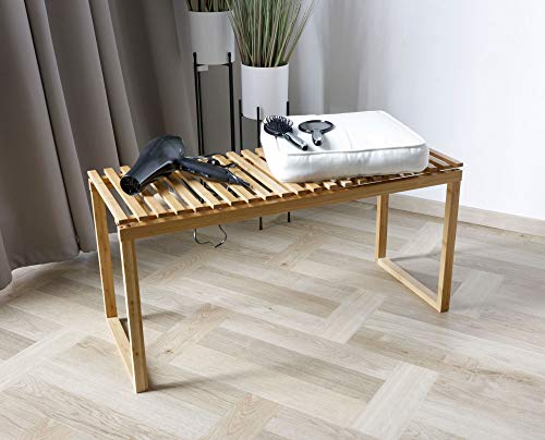Sitzbank Ablagebank aus Bambus für Badezimmer Schlafzimmer