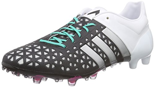 adidas Herren Ace 15.1 Fg/Ag Fußballschuhe, Schwarz (Core Black/Matte Silver/Ftwr White), 39 1/3 EU