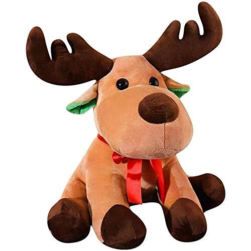 Cfxqvw Peluche, muñeco de Peluche Ciervo navideño, Alce, Reno, Regalo navideño, nochebuena, decoración navideña y complementos de Fiesta, 45 cm