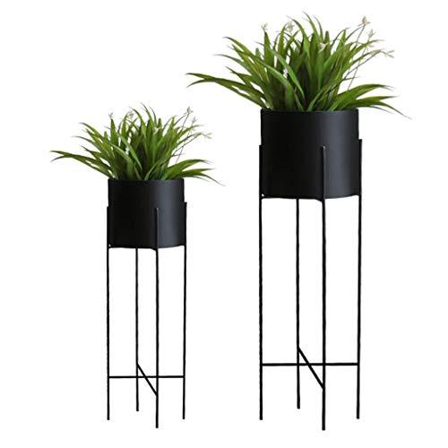 Support pour Plantes Support à étagères pour Fleurs Support à rangements Échelle Balcon Fer Chambre à Coucher Bureau Terrasse Taille 22x71 / 25x78 Cm (LxH) Noir