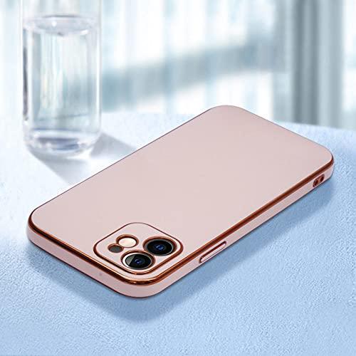 Galvanoplastia de Color Puro para iPhone 12 Case 11 / Pro / MAX X / XS Frosted 8p Silica Gel XR para iPhone 11 Pro MAX Cases, Rosa, para iPhoneXR