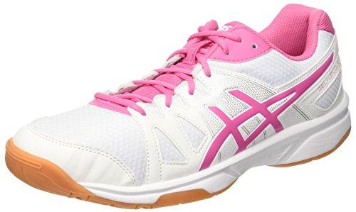 Asics Gel-Upcourt, Zapatillas de Gimnasia Unisex Adulto, Bianco White Azalea Pink White, 44.5 EU
