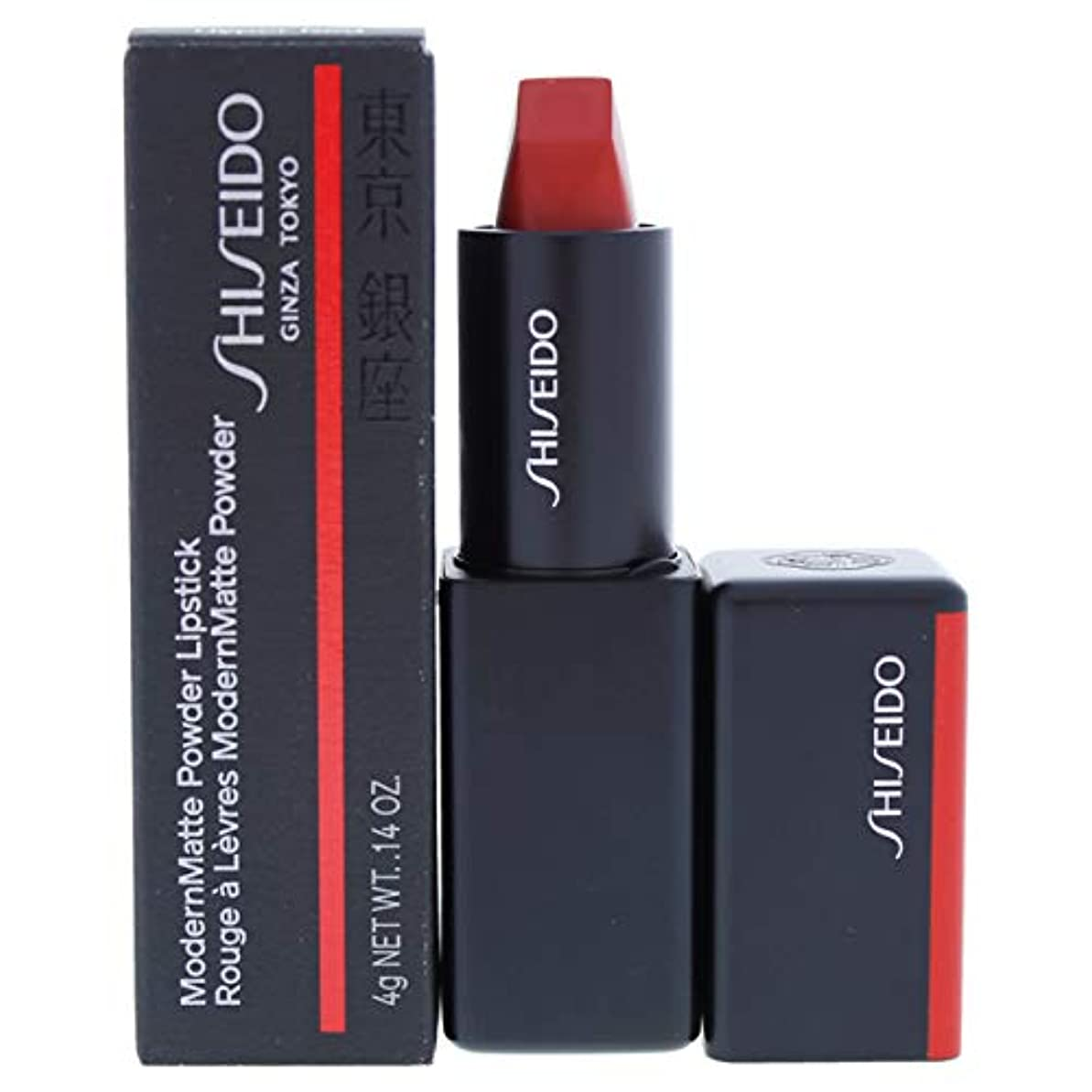 資生堂 ModernMatte Powder Lipstick - # 514 Hyper Red (True Red) 4g/0.14oz並行輸入品