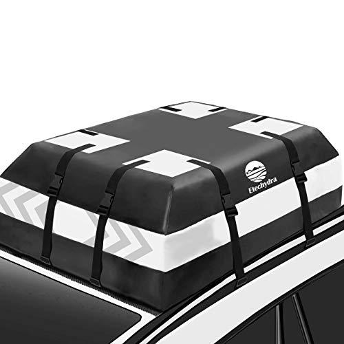 Etechydra Borsa da Tetto per Auto, Box Tetto Auto per Auto Borsa da Trasporto Impermeabile 15 Cubic Feet Universale Morbido Trasportatori di Carichi per Auto, Viaggi, Automobili, Furgoni