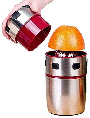 XZANTE Licuadora De Citricos Licuadora Manual Licuadora De Acero Inoxidable Portatil Exprimidor De Rotacion De La Tapa para Naranjas, Limones, Mandarinas Y Otras Frutas