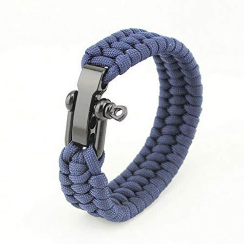 Bracelets Survie en Plein Air Boucles en Acier Camping Randonnée Sauvetage Bracelets Parachute Cord Men \U0026 Women Emergency Corde Noir