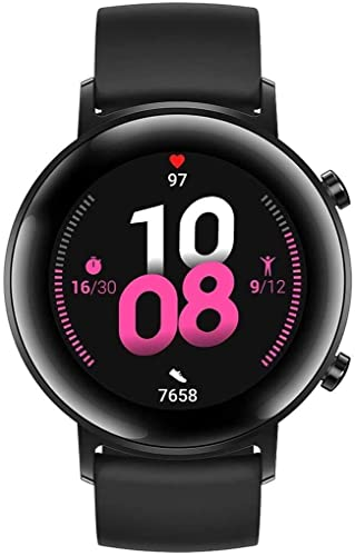 HUAWEI Watch GT 2 Smartwatch 42 mm, Durata Batteria fino a 1 Settimana, GPS, 15 Modalità di Allenamento, Monitoraggio Battito Cardiaco in Tempo Reale, Night Black