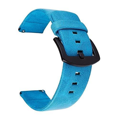 Correa de Reloj 20 mm Correa Retro de la Manera de la Correa de Cuero Resistente al Agua Correa 22mm 18-24mm (Band Color : Blue)