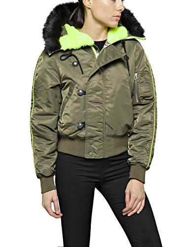 REPLAY W7483 .000.83118 Chaqueta, (Olive 234), X-Small para Mujer