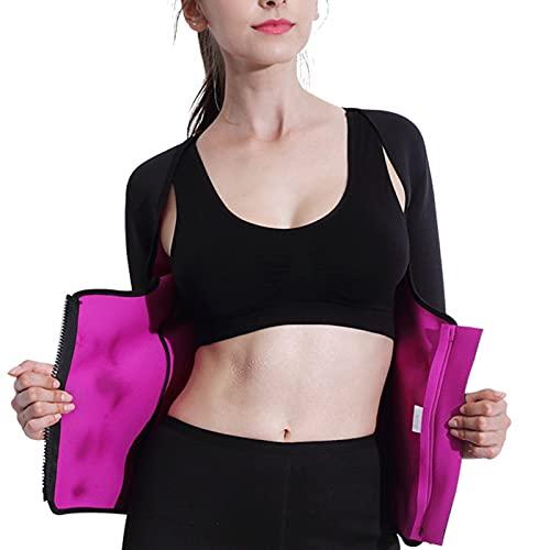 Hhwei Kvinnor neopren midja tränare väst bantning bastu linne svettning dragkedja kroppsformare skjorta yoga