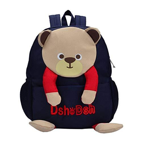 Clever Cartoon Bear Children Backpack Unisex Children School Bag Wear Resistant Boys Girls Backpack Burdens Alleviation #Pennytupu