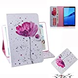 YXCY AYDD Violet Orchidées Motif Horizontal Flip Cuir Coque pour Huawei MediaPad M5 Lite 8 / Honory...