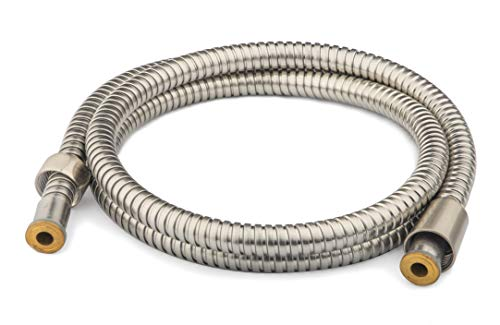 Ana Bath 96 Inch (8 ft) Stainless Steel Shower Hose, Extra Long and Flexible/Anti-Twist/Brass Connector/Spot Resist Brushed Nickel Finish