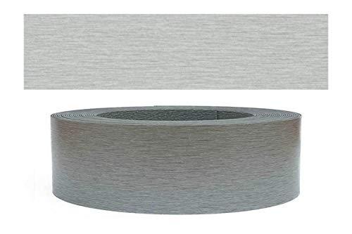 Mprofi MT® (20m rollo) Cantoneras laminadas melamina para rebordes con Greve Acero...