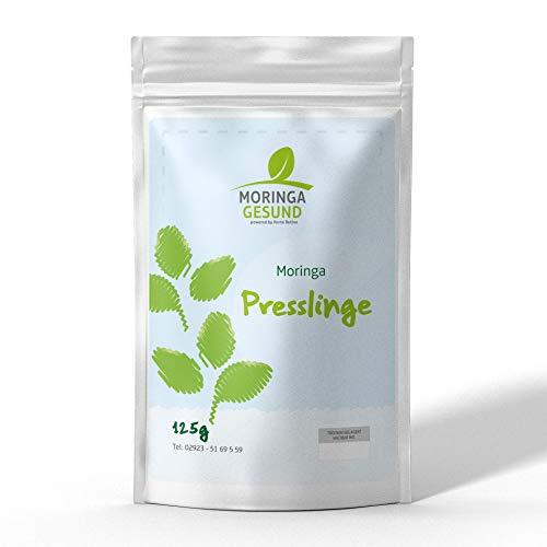 Moringa Presslinge - 240 Stück mit je 500mg reinstem Moringa Olifera Blattpulver - hochdosiert und leicht einzunehmen - Vegan - Glutenfrei - Alternative zu Kapseln und Pulver