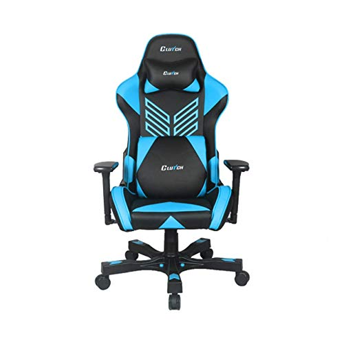 "Crank Series ""Onylight Edition"" World's Best Gaming Chair (Black/Blue) Racing Bucket Seat Gaming Chairs Computer Chair Esports Chair Executive Office Chair w/Lumbar Support Pillows"