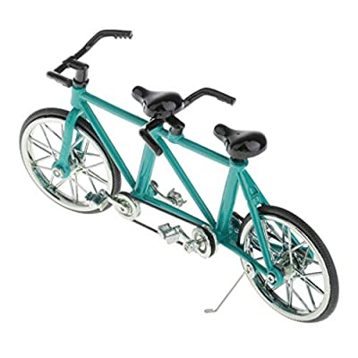menolana 1/16 Diecast Bike Model Bicycle Toy, Alloy Racing Bike Mini Realistic Model, Boy Girl Toys Creative Game Gift - Choose Colors - Blue