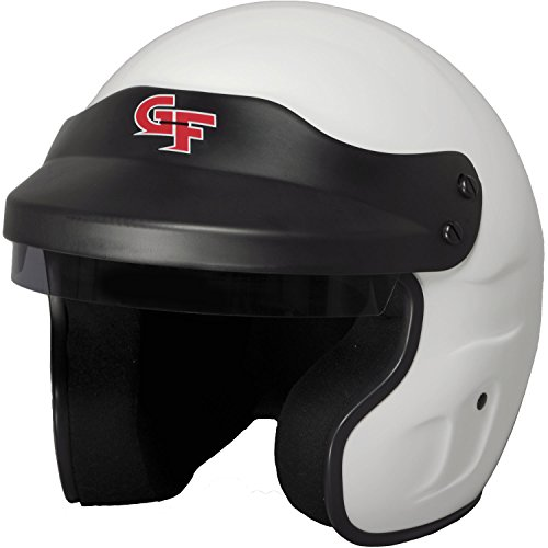 G-Force GF1 Unisex-Adult Open-Face Helmet (White,Medium) (SA2015)