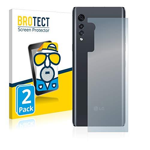 BROTECT 2X Entspiegelungs-Schutzfolie kompatibel mit LG Velvet (Rückseite) Bildschirmschutz-Folie Matt, Anti-Reflex, Anti-Fingerprint