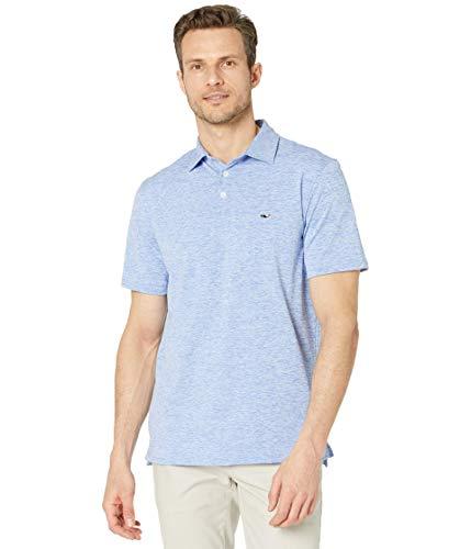 Vineyard Vines Men's St. Jean Short Sleeve Stripe Sankaty Polo, Breaker Blue, XX-Large