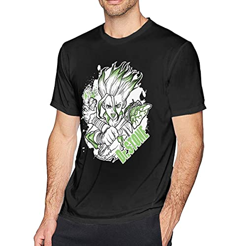 XCNGG Moda Anime Dr Stone Ishigami Senku Camisetas de algodón de Manga Corta
