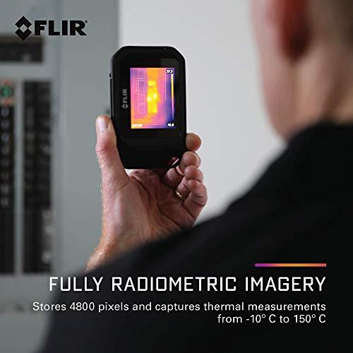 FLIR 72001-0101, C2 Cámara térmica compacta, Negro, 125 × 80 × 24 mm