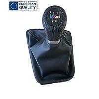 AutoFullCar.com Palanca de Cambio, 5 Velocidades 6 Velocidades Pomo con Fuelle Alta calidad para 3 Serie E46 (5 Velocidades)