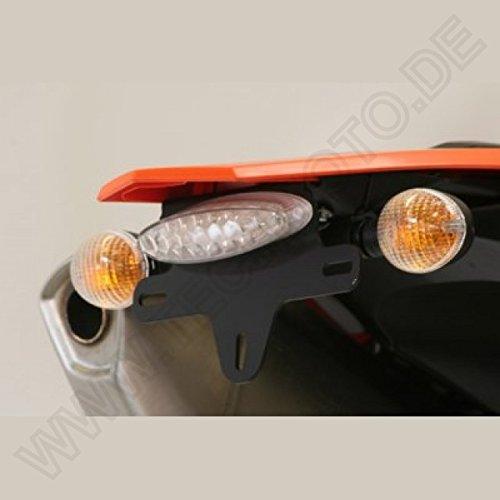 R&G Kennzeichenhalter für KTM 690 Enduro 08- SMC 08-11 SMCR 12-17 LED Getönt Smoke