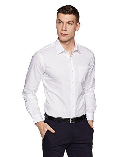 Arrow Men's Solid Slim Fit Cotton Formal Shirt (AFVSH0231_42FS_White)