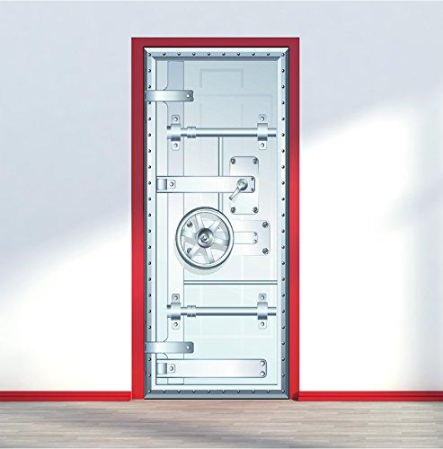 Red Parrot Graphics Vault Safe Bank Tür Wrap Vinyl Selbstklebende Aufkleber Art Wand Aufkleber, 80 x 200 cm