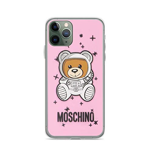 Phone Case Pink Mos-chi-no Compatible with iPhone 6 6s 7 8 X XS XR 11 Pro Max SE 2020 Samsung Galaxy Anti Bumper