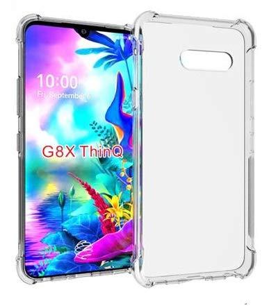 Clorox for LG G8X ThinQ Anti Shock Clear Soft Gel TPU Back Cover Case for LG G8X ThinQ
