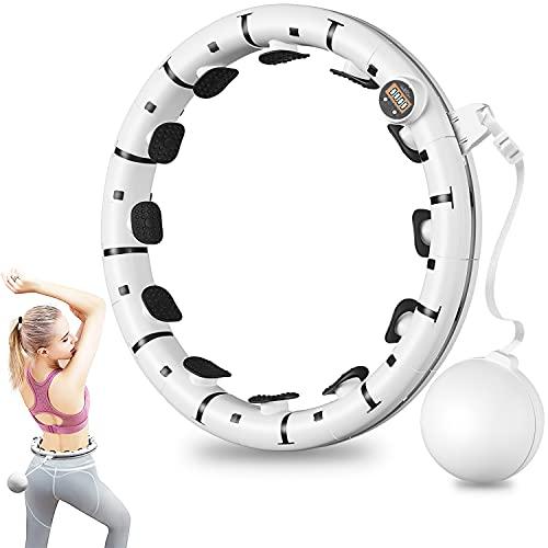 Smart Fitness Hula Hup Reifen Hoop, Verstellbare Intelligente Zählen Hula Fitness Hoop mit Schwerkraftball, 360 ° Surround Gewichtsverlust Massage Hoop für Erwachsene, Kinder und Anfänger Abnehmen