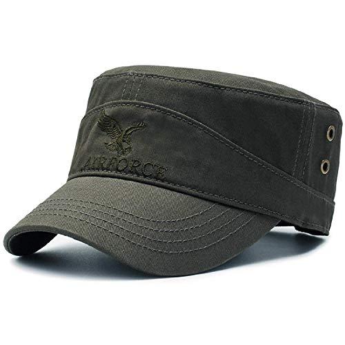 HASAGEI Army Military Cap Flatcap Vintage Baumwolle Baseball Cap Baseballmütze Kappe