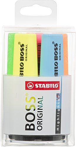 Marcador fluorescente STABILO BOSS Original - Cubilete con 6 colores