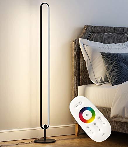 Ydshyth Lámpara de pie con Cambio de Color RGB Lámpara de pie Inteligente LED Regulable de para Sala de Estar y Dormitorio con Control Remoto, 20W