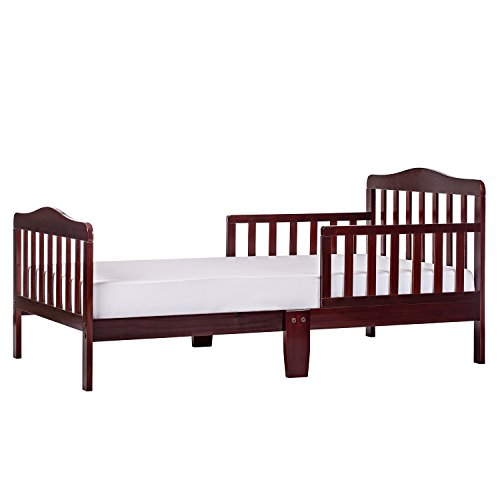 Dream On Me Classic Design Toddler Bed in Cherry, Greenguard Gold Certified 57x28x30 Inch (Pack of 1)