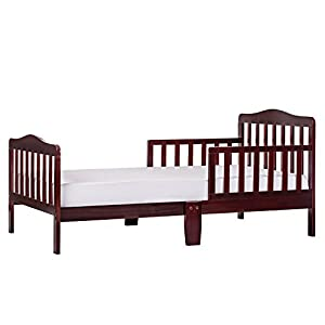 Dream On Me Classic Design Toddler Bed in Cherry, Greenguard Gold Certified